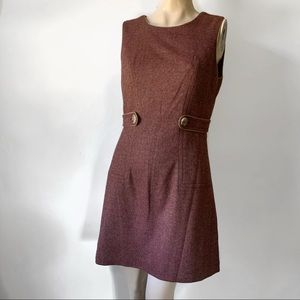 Tweed Wool Blend Jumper Dress
